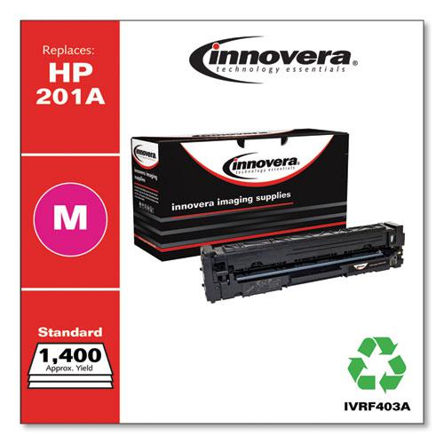Remanufactured Magenta Toner, Replacement for HP 201A (CF403A), 1,400 Page-Yield. Picture 1