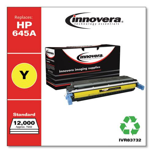 Remanufactured Yellow Toner, Replacement for HP 645A (C9732A), 12,000 Page-Yield. Picture 2