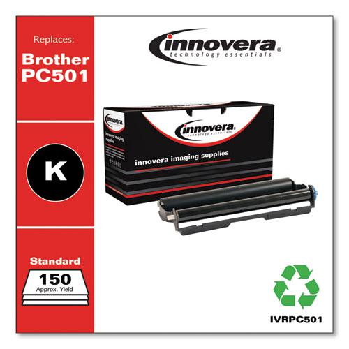 Compatible Black Thermal Transfer Print Cartridge, Replacement for Brother PC501, 150 Page-Yield. Picture 1