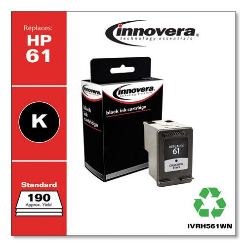 Remanufactured Black Ink, Replacement for HP 61 (CH561WN), 200 Page-Yield. Picture 2