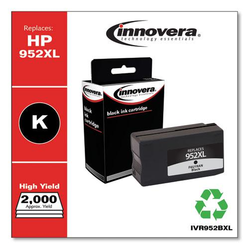 Remanufactured Black High-Yield Ink, Replacement for HP 952XL (F6U19AN), 2,000 Page-Yield. Picture 2