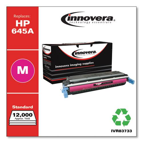 Remanufactured Magenta Toner, Replacement for HP 645A (C9733A), 12,000 Page-Yield. Picture 1