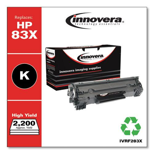 Remanufactured Black High-Yield Toner, Replacement for HP 83X (CF283X), 2,000 Page-Yield. Picture 2