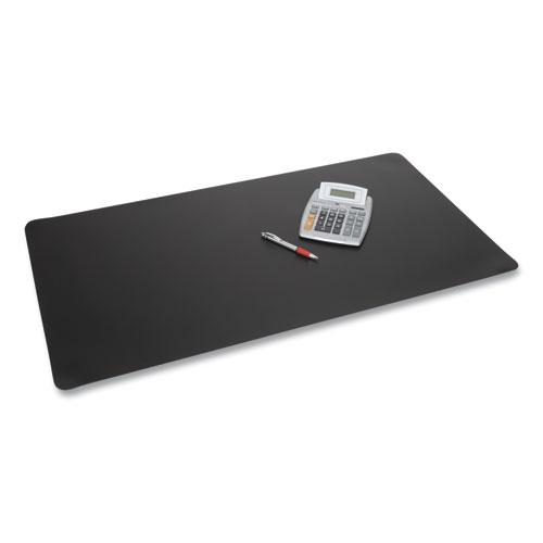 Rhinolin II Desk Pad with Antimicrobial Product Protection, 17 x 12, Black. Picture 1