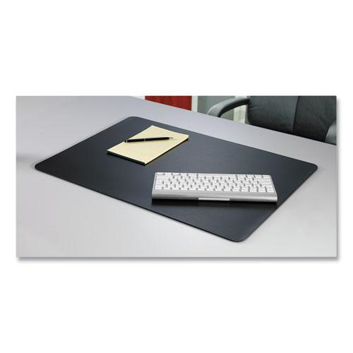 Rhinolin II Desk Pad with Antimicrobial Product Protection, 17 x 12, Black. Picture 2