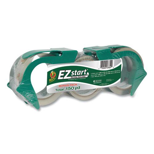 """EZ Start Premium Packaging Tape, 3"""" Core, (2) 1.88"""" x 60 yds, (1) 1.88"""" x 30 yds, Clear, 3/Pack. Picture 1"""