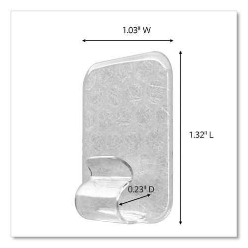 Adjustables Repositionable Mini Clips, Plastic, White, 0.5 lb Capacity, 14 Clips and 12 Strips. Picture 2