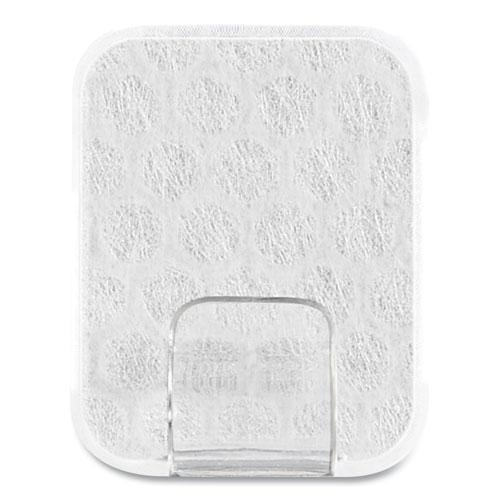 Adjustables Repositionable Mini Clips, Plastic, White, 0.5 lb Capacity, 14 Clips and 12 Strips. Picture 3