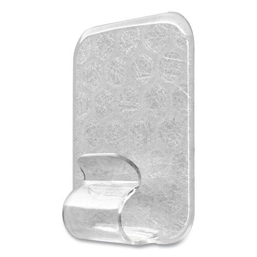 Adjustables Repositionable Mini Clips, Plastic, White, 0.5 lb Capacity, 14 Clips and 12 Strips. Picture 4