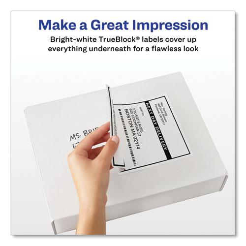 Shipping Labels w/ TrueBlock Technology, Laser Printers, 5.5 x 8.5, White, 2/Sheet, 100 Sheets/Box. Picture 5