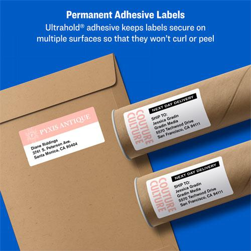 Shipping Labels w/ TrueBlock Technology, Inkjet Printers, 3.5 x 5, White, 4/Sheet, 25 Sheets/Pack. Picture 8