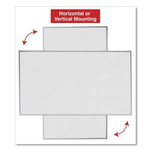 Dry Erase Board, Melamine, 72 x 48, Satin-Finished Aluminum Frame. Picture 7