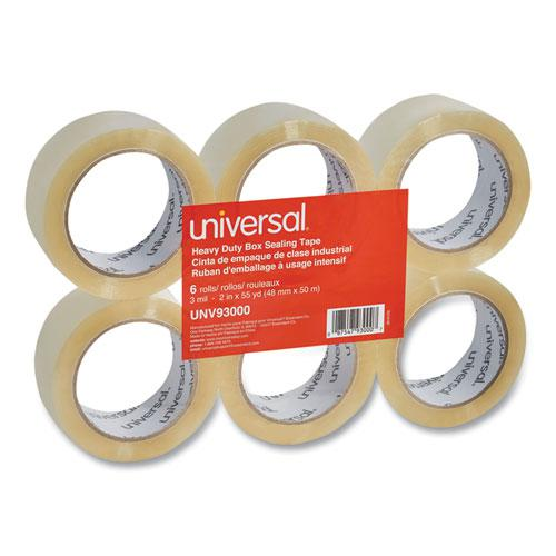 "Heavy-Duty Box Sealing Tape, 3"" Core, 1.88"" x 54.6 yds, Clear, 6/Box. Picture 5"