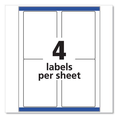 Shipping Labels w/ TrueBlock Technology, Laser Printers, 3.5 x 5, White, 4/Sheet, 100 Sheets/Box. Picture 5