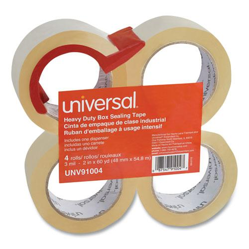 """Heavy-Duty Box Sealing Tape with Dispenser, 3"""" Core, 1.88"""" x 60 yds, Clear, 4/Box. Picture 3"""