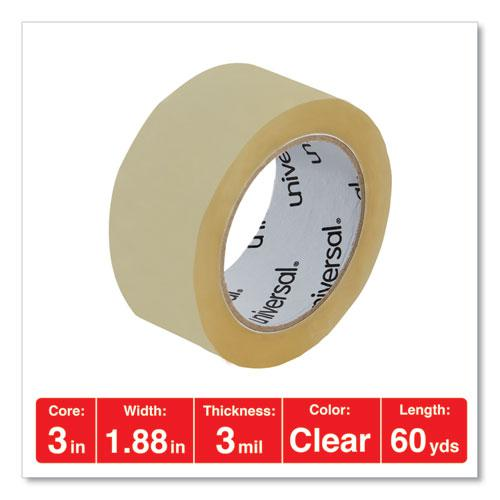 """Heavy-Duty Box Sealing Tape with Dispenser, 3"""" Core, 1.88"""" x 60 yds, Clear, 4/Box. Picture 4"""