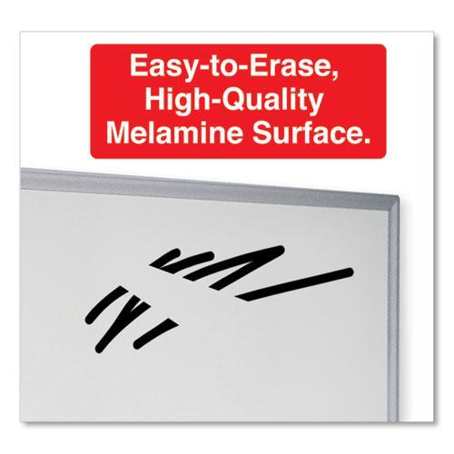 Dry Erase Board, Melamine, 72 x 48, Satin-Finished Aluminum Frame. Picture 3