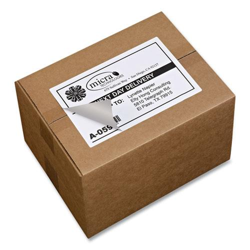 Shipping Labels w/ TrueBlock Technology, Laser Printers, 5.5 x 8.5, White, 2/Sheet, 100 Sheets/Box. Picture 7