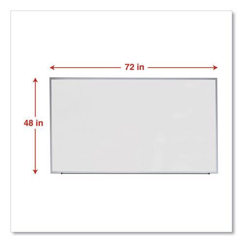 Dry Erase Board, Melamine, 72 x 48, Satin-Finished Aluminum Frame. Picture 5