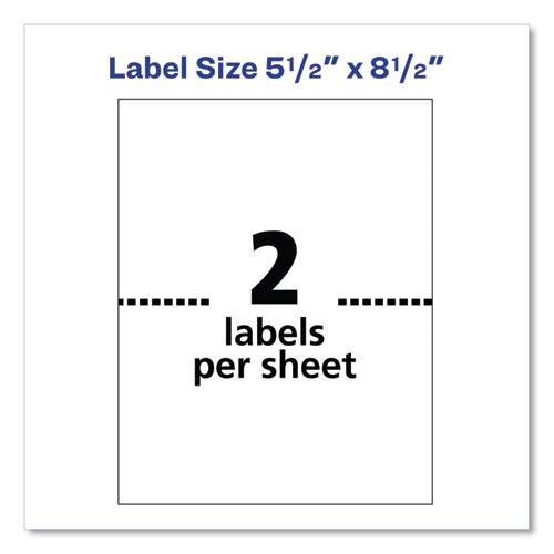 Shipping Labels w/ TrueBlock Technology, Laser Printers, 5.5 x 8.5, White, 2/Sheet, 100 Sheets/Box. Picture 4