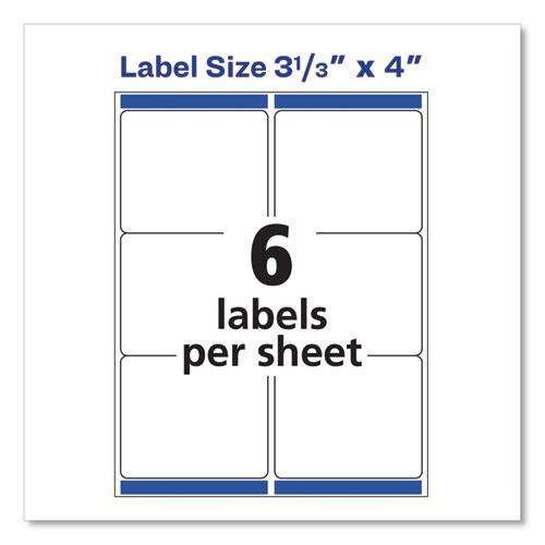Shipping Labels w/ TrueBlock Technology, Laser Printers, 3.33 x 4, White, 6/Sheet, 25 Sheets/Pack. Picture 7