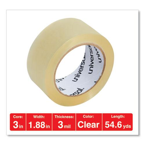 "Heavy-Duty Box Sealing Tape, 3"" Core, 1.88"" x 54.6 yds, Clear, 6/Box. Picture 4"
