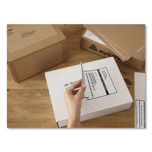 Shipping Labels w/ TrueBlock Technology, Laser Printers, 5.5 x 8.5, White, 2/Sheet, 100 Sheets/Box. Picture 6
