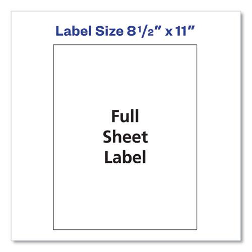 Shipping Labels with TrueBlock Technology, Laser Printers, 8.5 x 11, White, 25/Pack. Picture 7