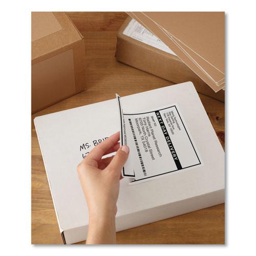 Shipping Labels w/ TrueBlock Technology, Laser Printers, 5.5 x 8.5, White, 2/Sheet, 100 Sheets/Box. Picture 9