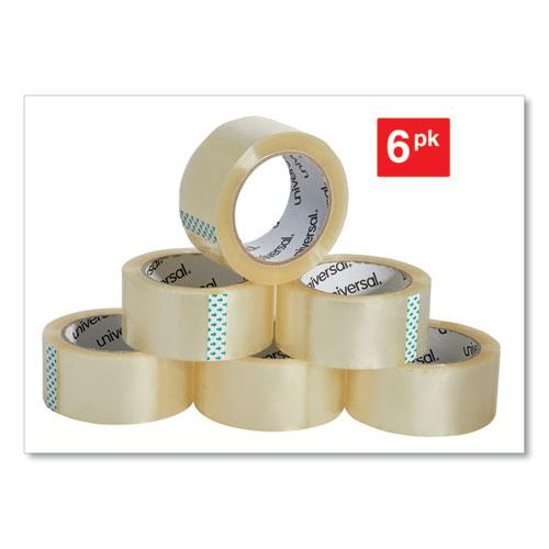"Heavy-Duty Box Sealing Tape, 3"" Core, 1.88"" x 54.6 yds, Clear, 6/Box. Picture 2"
