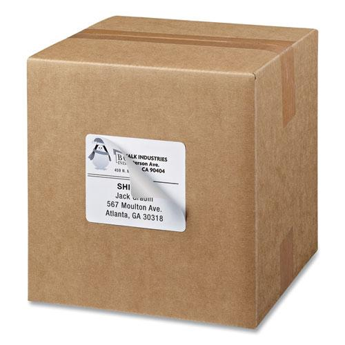 Shipping Labels w/ TrueBlock Technology, Inkjet Printers, 3.33 x 4, White, 6/Sheet, 25 Sheets/Pack. Picture 9