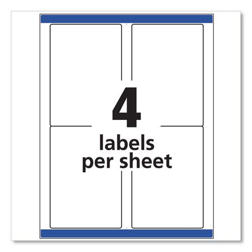 Shipping Labels w/ TrueBlock Technology, Inkjet Printers, 3.5 x 5, White, 4/Sheet, 25 Sheets/Pack. Picture 3