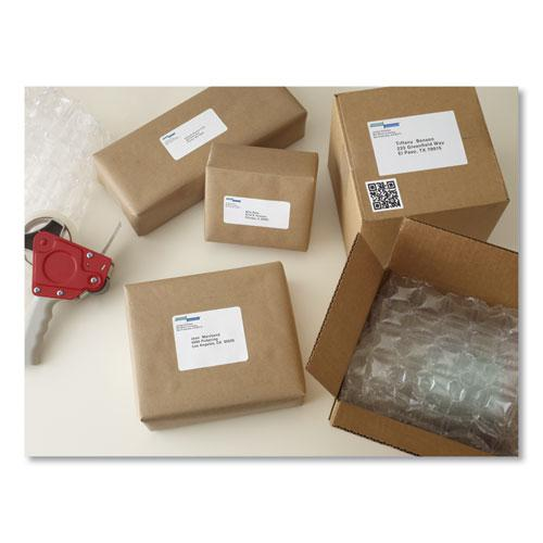 Shipping Labels w/ TrueBlock Technology, Laser Printers, 5.5 x 8.5, White, 2/Sheet, 100 Sheets/Box. Picture 8