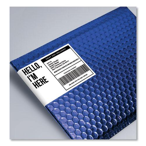 Shipping Labels w/ TrueBlock Technology, Inkjet Printers, 3.5 x 5, White, 4/Sheet, 25 Sheets/Pack. Picture 4