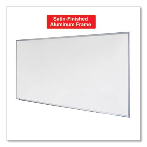 Dry Erase Board, Melamine, 72 x 48, Satin-Finished Aluminum Frame. Picture 6