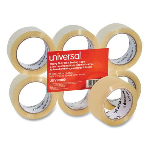 "Heavy-Duty Box Sealing Tape, 3"" Core, 1.88"" x 54.6 yds, Clear, 6/Box. Picture 1"