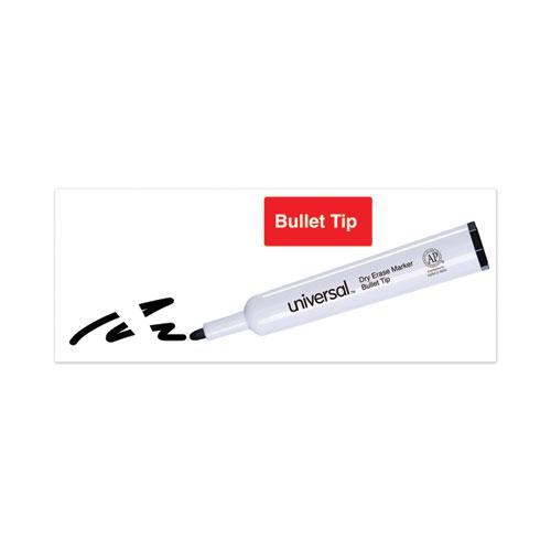 Dry Erase Marker, Medium Bullet Tip, Black, Dozen. Picture 5