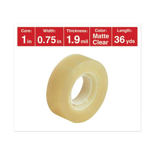 """Invisible Tape, 1"""" Core, 0.75"""" x 36 yds, Clear, 12/Pack. Picture 2"""