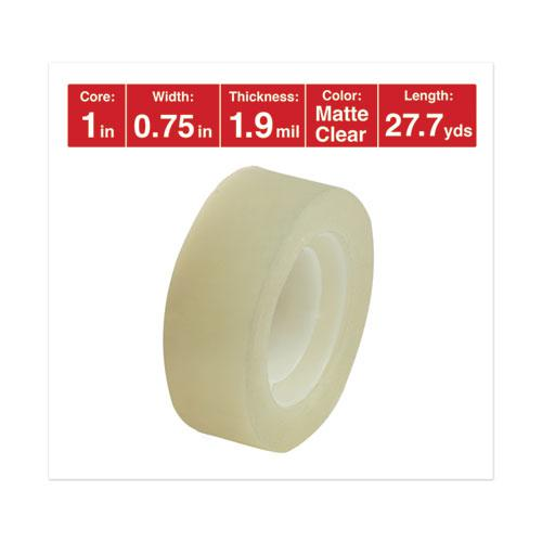 """Invisible Tape, 1"""" Core, 0.75"""" x 83.33 ft, Clear, 6/Pack. Picture 3"""