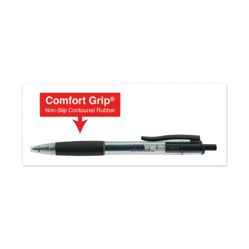 Comfort Grip Retractable Gel Pen, 0.7mm, Black Ink, Smoke Barrel, Dozen. Picture 3