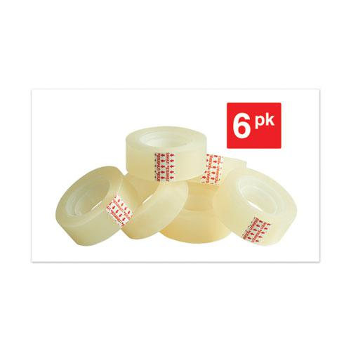 """Invisible Tape, 1"""" Core, 0.75"""" x 83.33 ft, Clear, 6/Pack. Picture 6"""