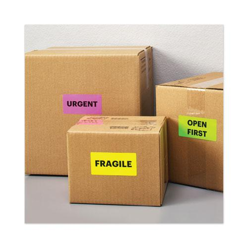 High-Visibility Permanent Laser ID Labels, 2 x 4, Asst. Neon, 150/Pack. Picture 3