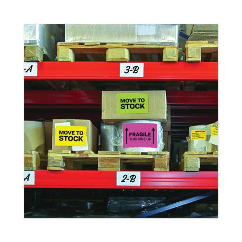 High-Visibility Permanent Laser ID Labels, 8.5 x 11, Asst. Neon, 15/Pack. Picture 3