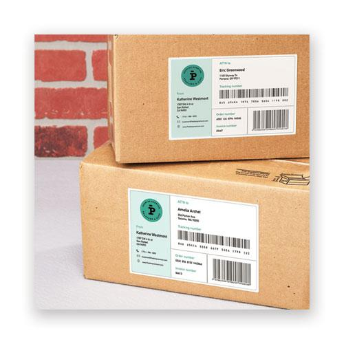 Waterproof Shipping Labels with TrueBlock Technology, Laser Printers, 5.5 x 8.5, White, 2/Sheet, 50 Sheets/Pack. Picture 7