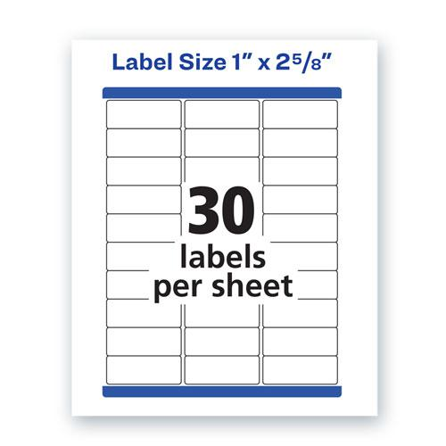 Waterproof Address Labels with TrueBlock and Sure Feed, Laser Printers, 1 x 2.63, White, 30/Sheet, 50 Sheets/Pack. Picture 8