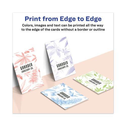Print-to-the-Edge Microperforated Business Cards with Sure Feed Technology, Color Laser, 2 x 3.5, Wht, 160/Pk. Picture 8