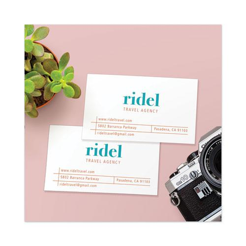 Printable Microperforated Business Cards with Sure Feed Technology, Laser, 2 x 3.5, White, Uncoated, 250/Pack. Picture 6