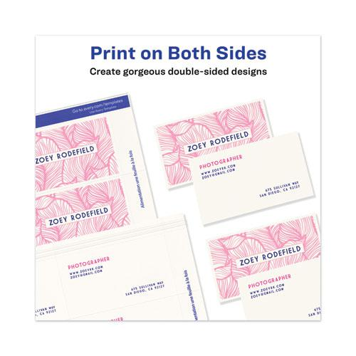 Printable Microperforated Business Cards with Sure Feed Technology, Laser, 2 x 3.5, White, Uncoated, 250/Pack. Picture 2