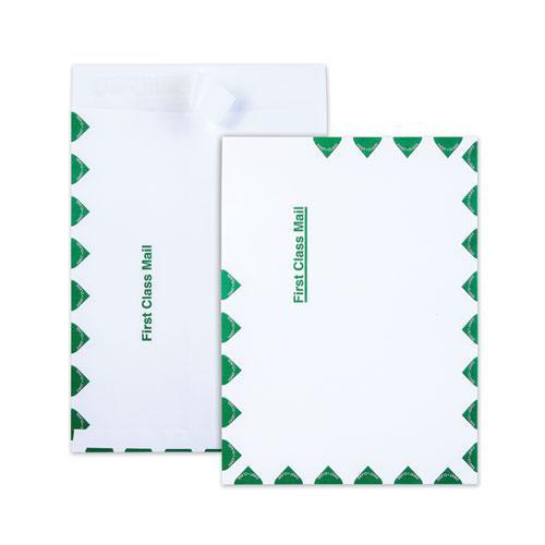 Ship-Lite Envelope, #10 1/2, Cheese Blade Flap, Redi-Strip Closure, 9 x 12, White, 100/Box. Picture 1