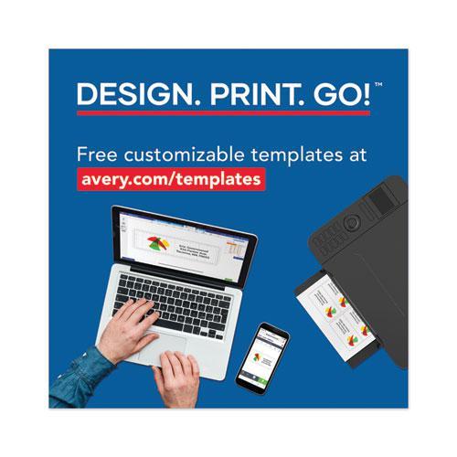 Copier Mailing Labels, Copiers, 1 x 2.81, White, 33/Sheet, 250 Sheets/Box. Picture 5